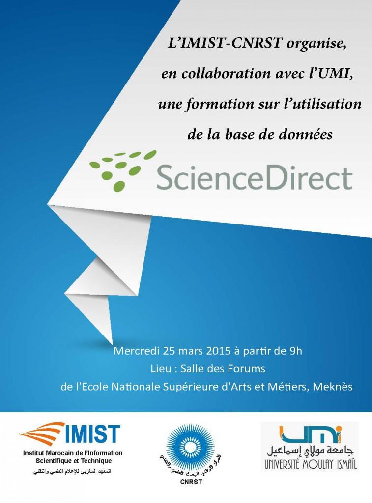 IMIST2015 Affiche Formation Elsevier UMyI