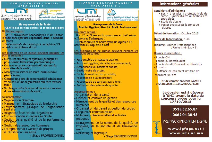 Programmes et Conditions d'accès
